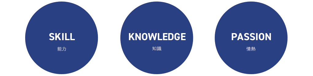 SKILL KNOWLEDGE PASSION